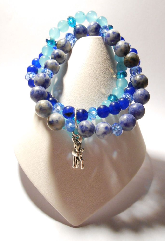 Blue Stretchy Bracelet