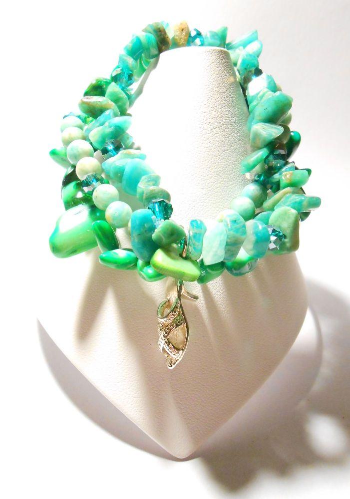 Green Stretchy Bracelet