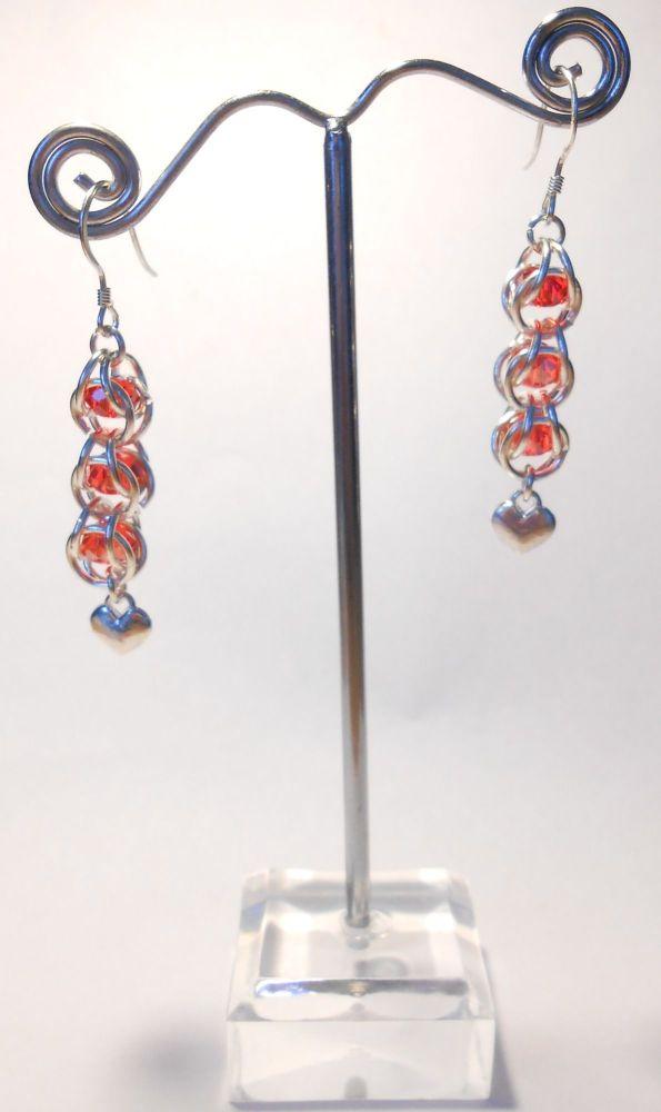 Captured Crystal Earrings