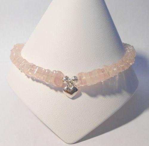 Rose Quartz Ankle Bracelet