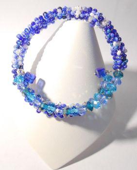 Blue Memory wire Bracelet