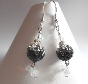Black Sparkle Earrings