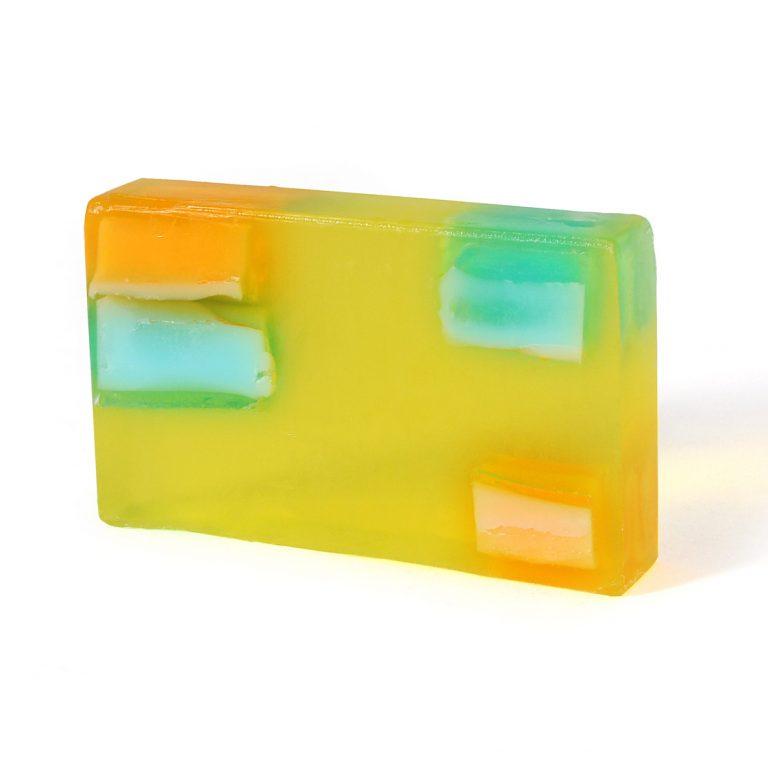Sherbet Dip (Lemon) Soap Slice