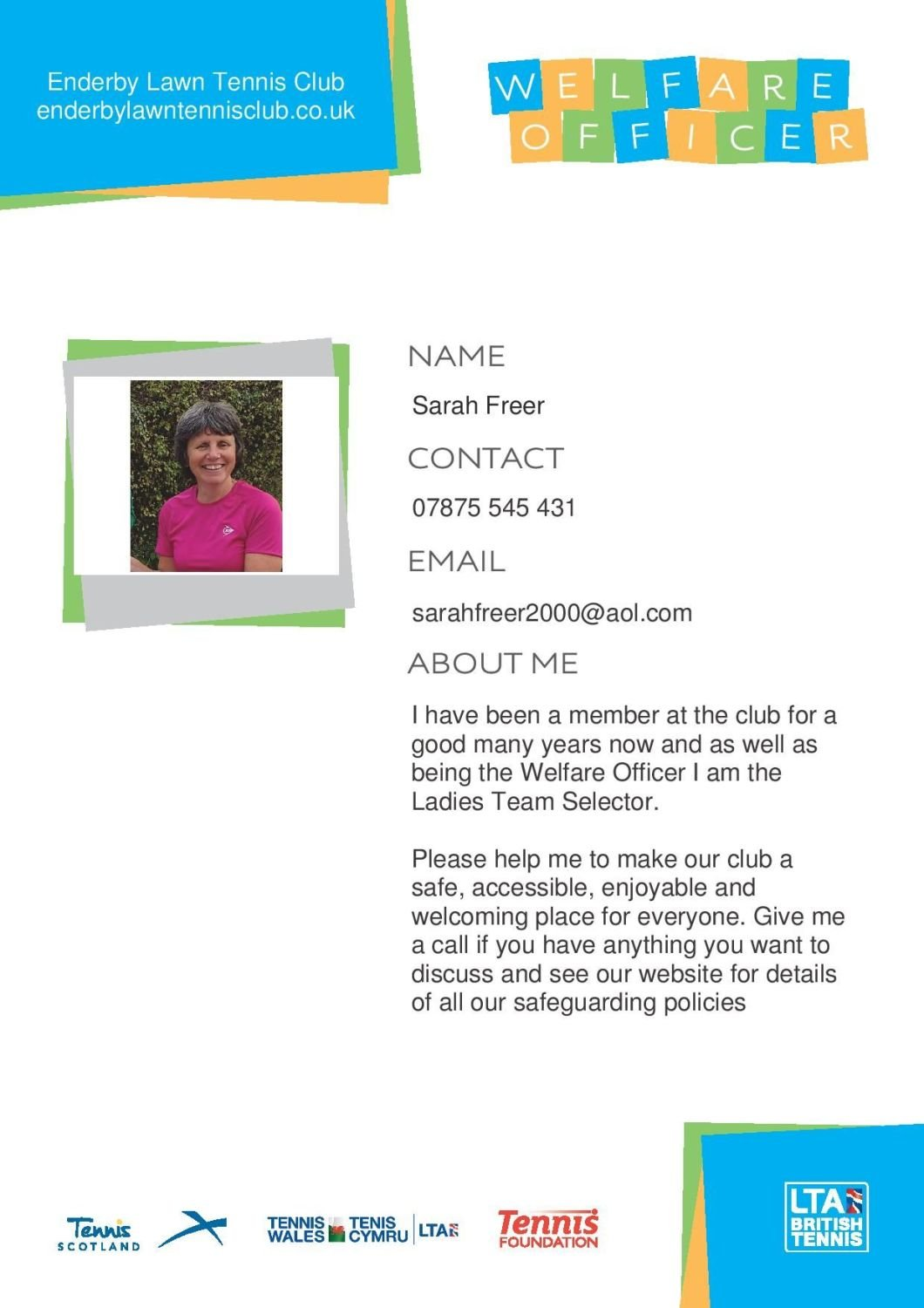 Standard 1.4 Sarah Freer welfare-officer-poster_a4-editable-page-001