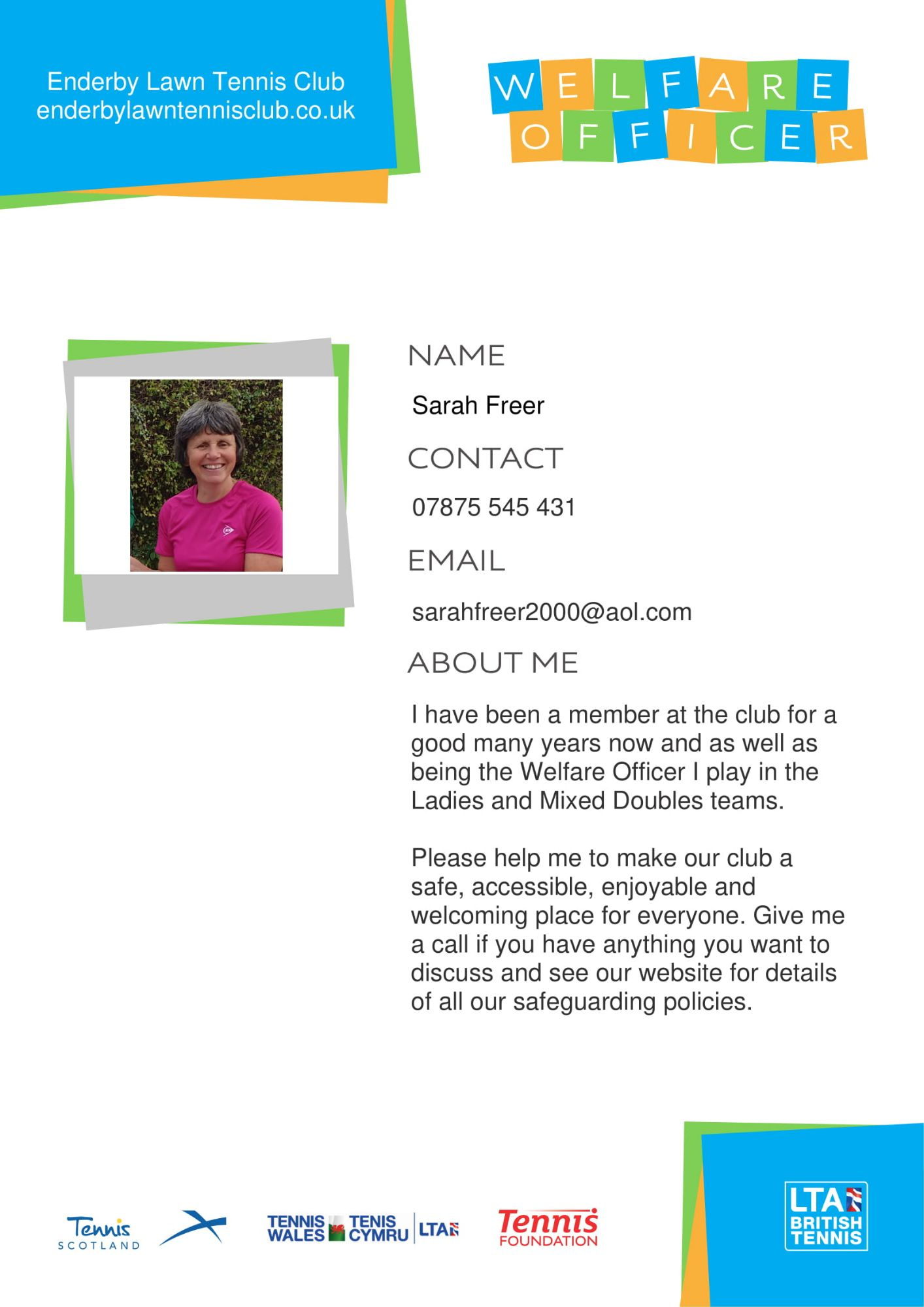 Standard 1.4 Sarah Freer welfare-officer-poster_a4-editable v3-1