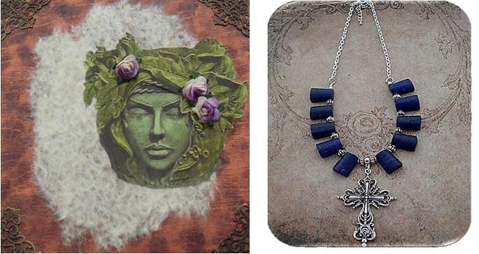 GreenLady Memory Box & Lapis Lazuli Necklace
