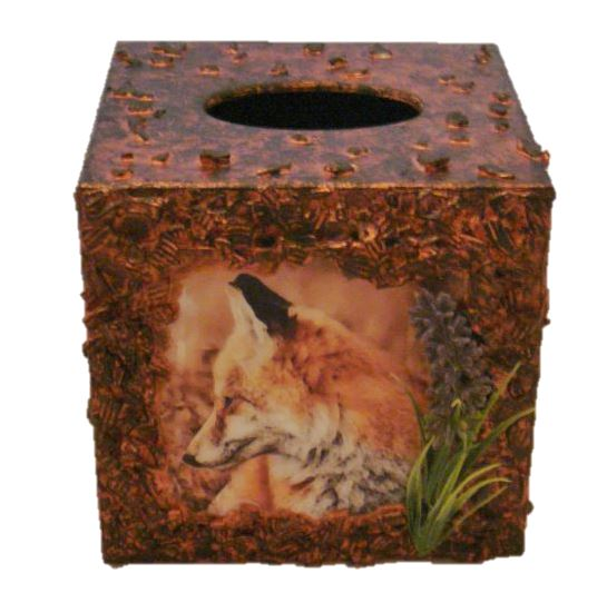 Fox Tissue Box Holder