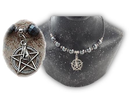 Close Up of Pentagram Bastet circlet sistersofthemoon.org.uk