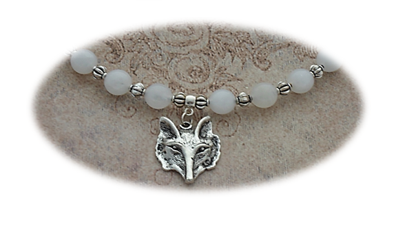 Close up of White Jade Fox Circlet sistersofthemoon.org.uk