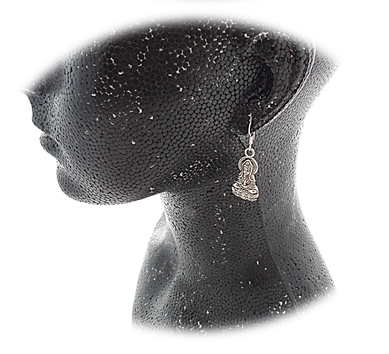 Buddha Earrings close up sistersofthemoon.org.uk
