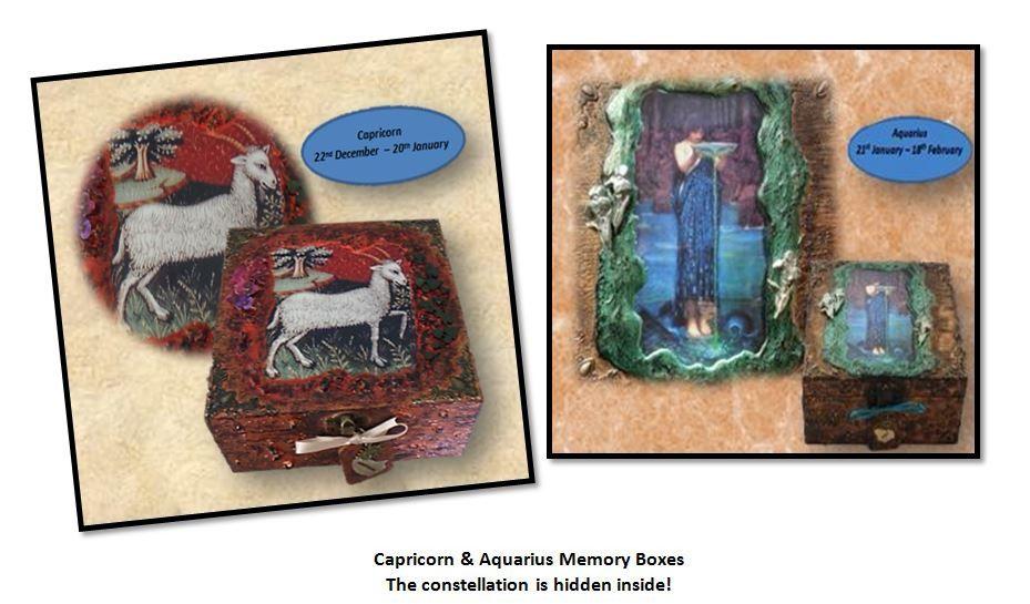 Capricorn & Aquarius Memory Boxes sistersofthemoon.org.uk