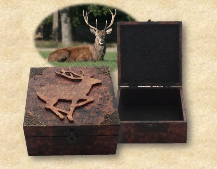 Deer Stag Spirit Animal Box sistersofthemoon.org.uk