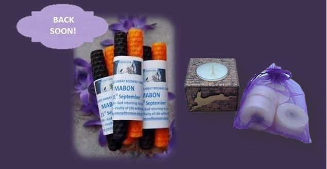 Altar Candles & Nightlight Holders back soon sistersofthemoon.org.uk