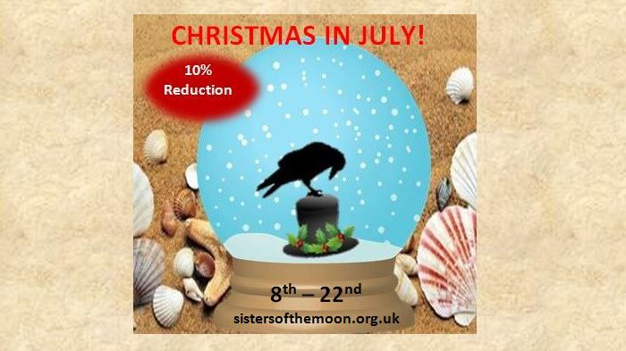 Christmas in July Twitter sistersofthemoon.org.uk