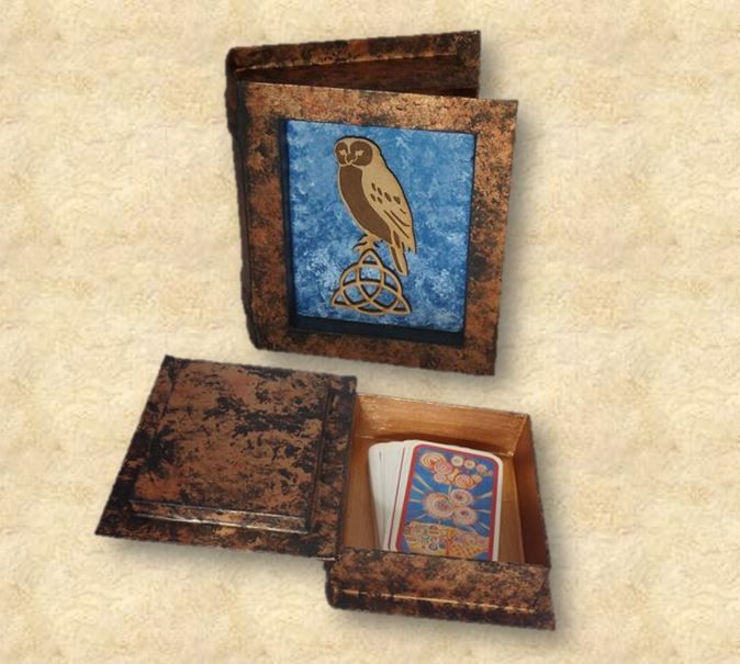 Owl Tarot Card Box sistersofthemoon.org.uk W