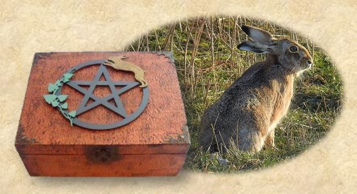 Hare & Pentagram Altar Box sistersofthemoon.org.uk W2