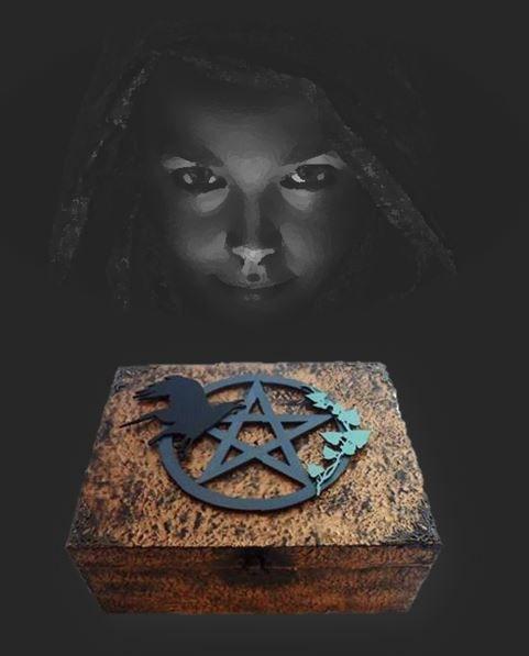 Crow & Pentagram Altar Box sistersofthemoon.org.uk