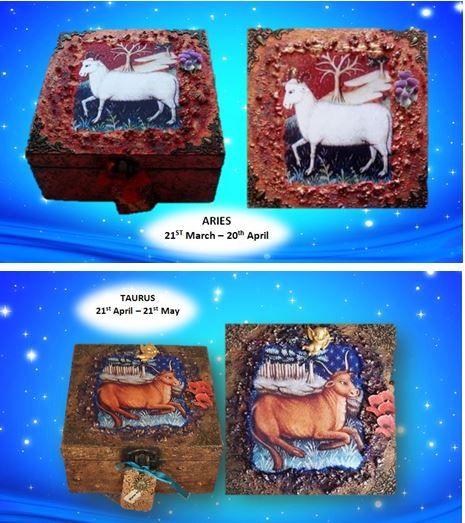 Aries and Taurus Memory Boxes sistersofthemoon.org.uk