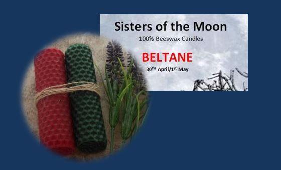 Beltane Sabbat Candles sistersofthemoon.org.uk