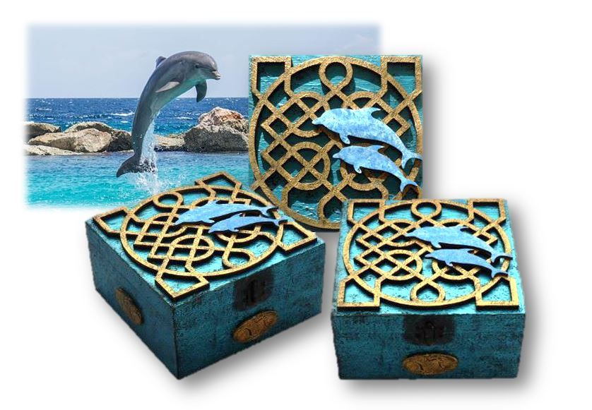Celtic Knot Memory Box with Dolphins sistersofthemoon.org.uk