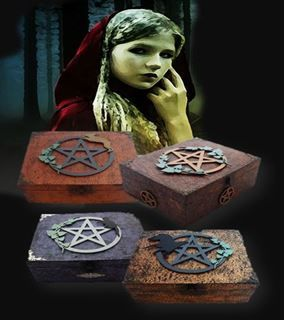 The Pentagram Collection of Altar Boxe from sistersofthemoon.org.uk