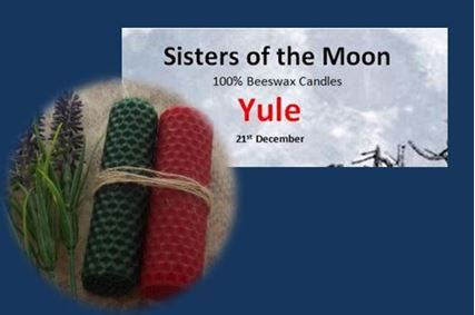 Yule Candles sistersofthemoon.org.uk W