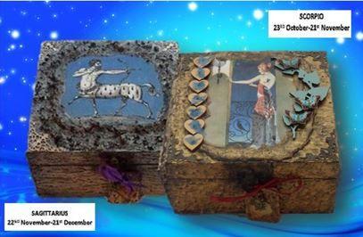 Sagittarius and Scorpio Zodiac Boxes sistersofthemoon.org.uk NW