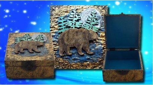 Bear Spirit Animal Memory Box sistersofthemoon.org.uk