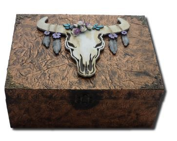 Skull Memory Box sistersofthemoon.org.uk