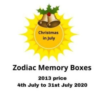 Zodiac Memory Boxes July in Christmas Sale sistersofthemoon.org.uk