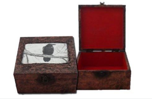 Crow Memory Box - Crow Keepsake Box - Crow Box sistersofthemoon.org.uk