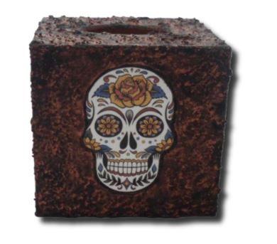 Sugar Skull Tissue Box Holder sistersofthemoon.org.uk