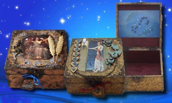 Libra and Scorpio Zodiac Memory Boxes sistersofthemoon.org.uk