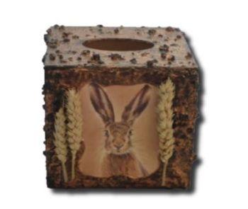 Hare Tissue Box Holder