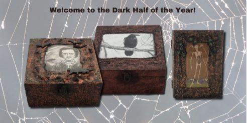 Edgar Allan Poe Memory Box, Crow Memory Box, Death Card Tarot Card Box sist