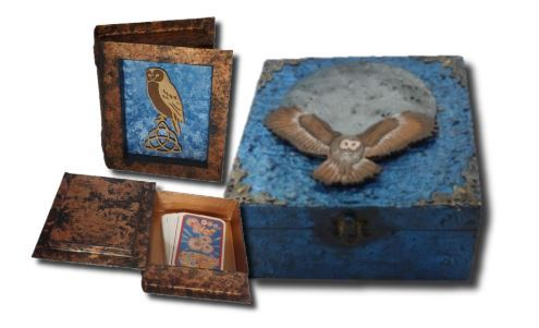 Owl Tarot Card Box and Owl Memory Box sistersofthemoon.org.uk