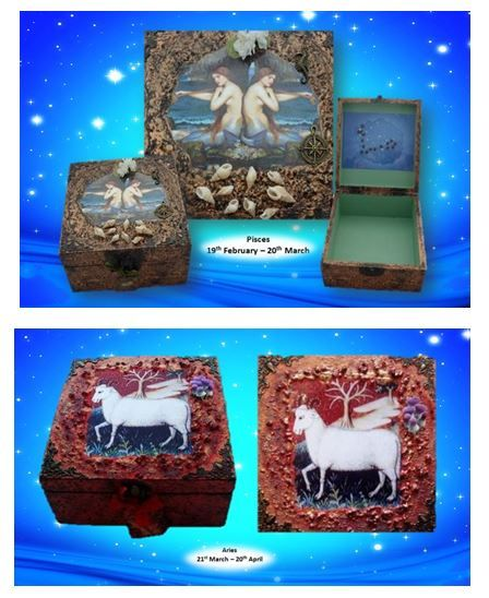 Pisces and Aries Zodiac Boxes sistersofthemoon.org.uk