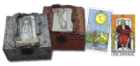Tarot Card Memory Boxes The Moon The Emperor sistersofthemoon.org.uk