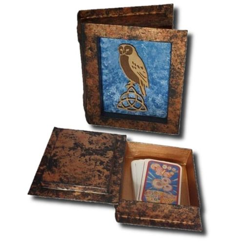 Owl and Triquetra Tarot Card Box
