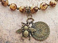 Bee Circlet with Buri Beads sistersofthemoon.org.uk