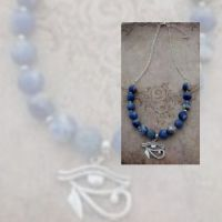 Eye of Horus & Sodalite Necklace