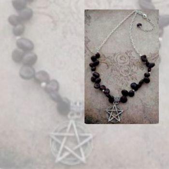 Pentagram & Garnet Necklace