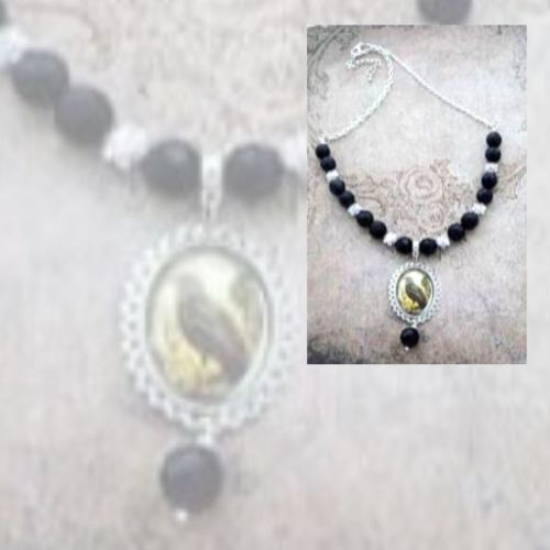 Raven and Black Onyx Necklace