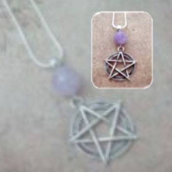 Pentagram Gemstone Pendant