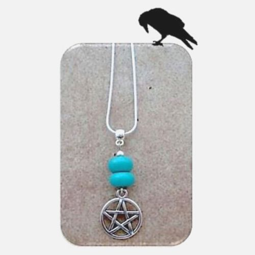 Pentagram & Turquoise Pendant