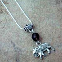 Elephant & Gemstone Pendant