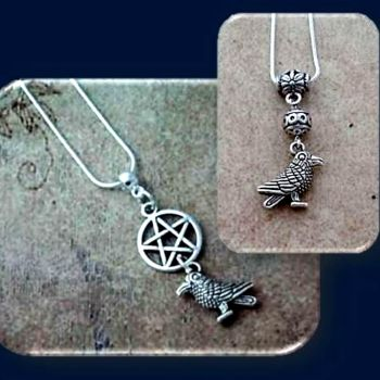 Crow & Pentagram Pendant