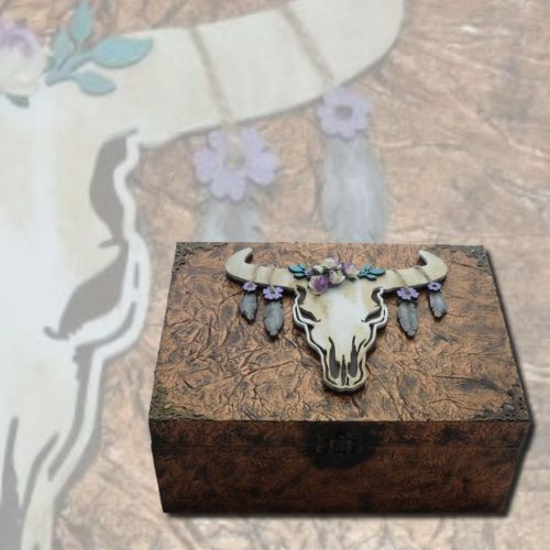 Animal Skull Memory Box