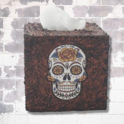 Sugar Skull Tissue Box