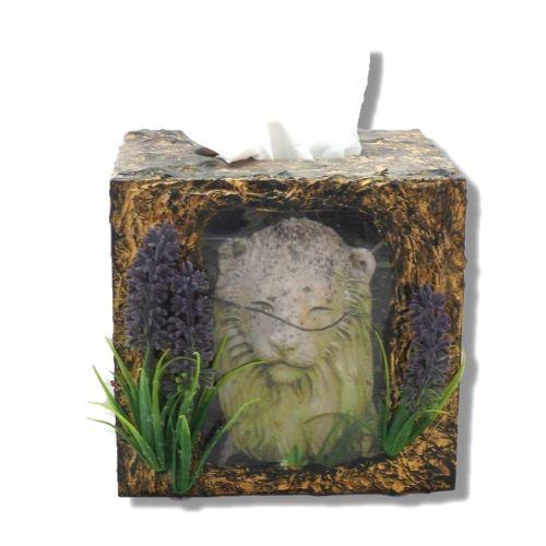 Stone Lion Tissue Box